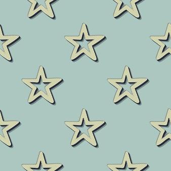 Retro sterrenpatroon. abstracte geometrische achtergrond in de stijl van de jaren 80, 90. geometrische eenvoudige illustratie