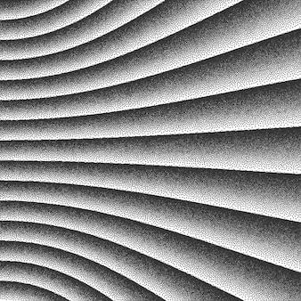 Retro-stijl dotwork gebogen gladde gebogen lijnen