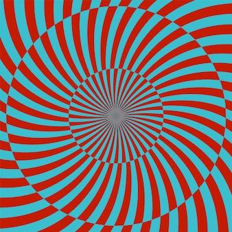 Retro stijl hypnotische achtergrond. vector illustratie