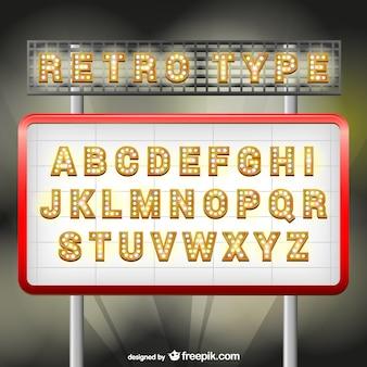 Retro-stijl lettertype