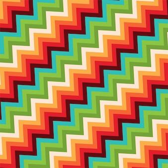 Retro stijl met een zigzagpatroon