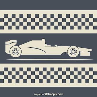 Retro-stijl racen achtergrond