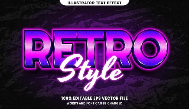 Retro-stijl tekst, bewerkbaar teksteffect in lettertypestijl