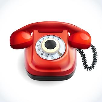 Retro stijl telefoon kleur