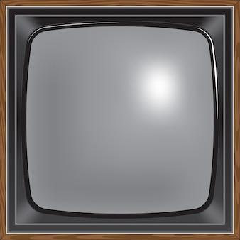 Retro-stijl tv met vierkant scherm