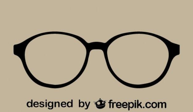 Retro-stijl vector bril