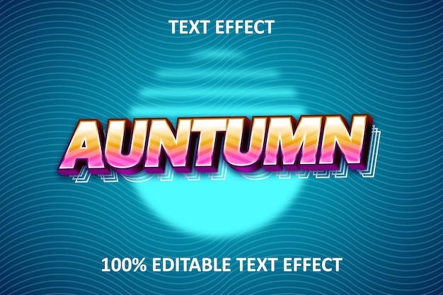Retro streep bewerkbaar teksteffect regenboogblauw