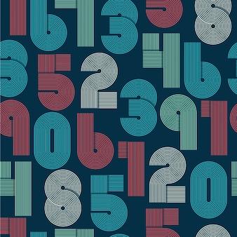 Retro strepen funky nummers settrendy elegante retro style design vector ontwerp