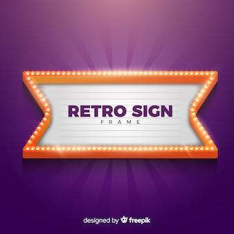 Retro teken frame
