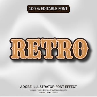 Retro tekst, bewerkbaar lettertype-effect