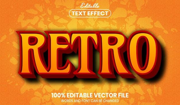 Retro tekst, bewerkbaar teksteffect in lettertypestijl