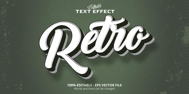 Retro tekst bewerkbaar teksteffect in oude stijl