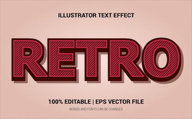 Retro tekst effecten stijl