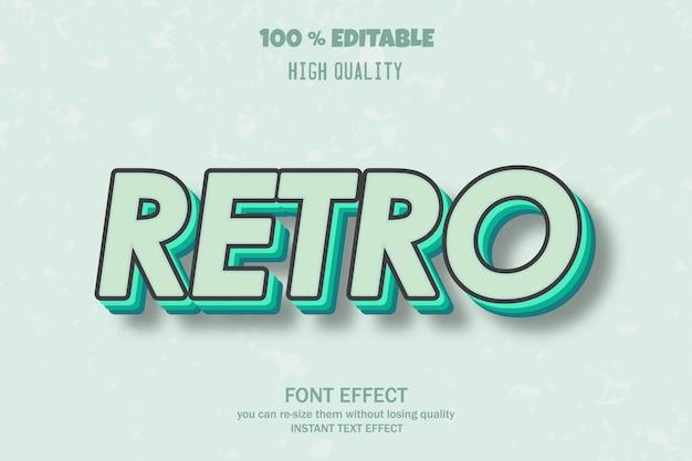 Retro tekst lettertype effect