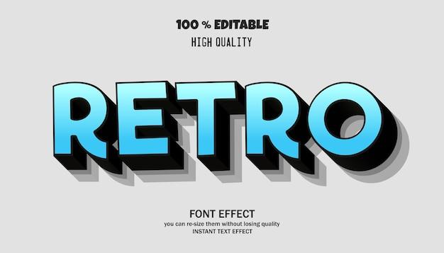 Retro teksteffect bewerkbaar lettertype