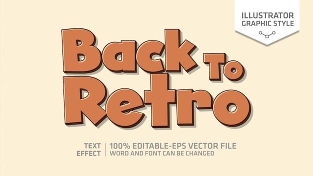 Retro teksteffect grafische stijl