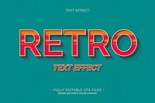 Retro teksteffect volledig bewerkbaar