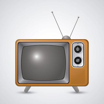 Retro televisieontwerp