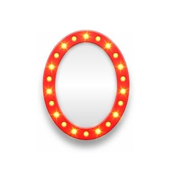 Retro tent leeg frame frame voor film casino lamp voor make-up kamer