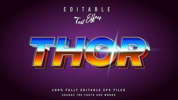Retro thor-effect typografisch