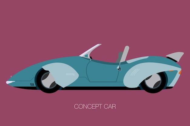 Retro toekomstige auto