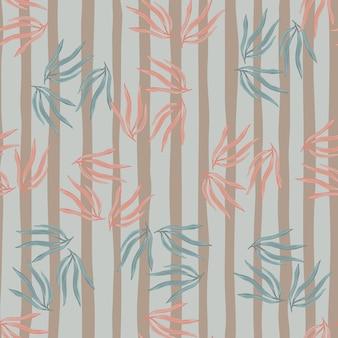Retro tropische bladeren semless patroon.