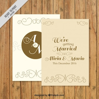 Retro trouwkaart