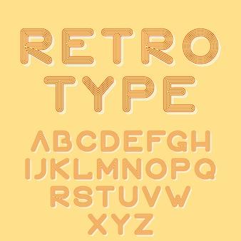 Retro type stijl