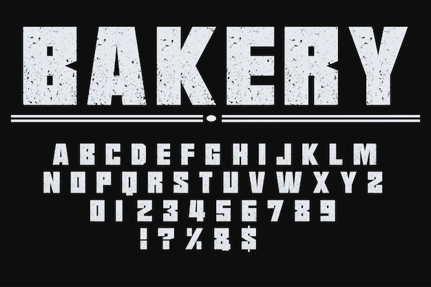 Retro typografie labelontwerp bakkerij
