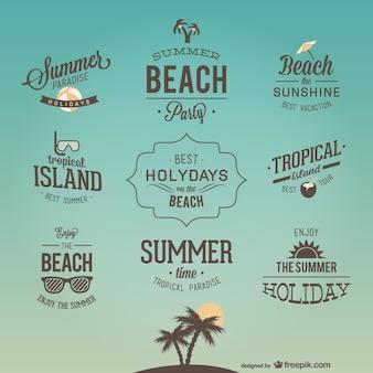 Retro vakantie belettering ontwerpen