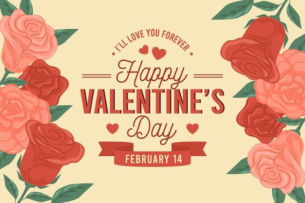 Retro valentijnsdag achtergrond
