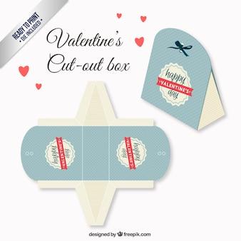 Retro valentijnsdag doos