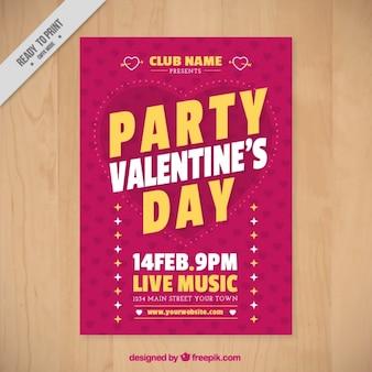 Retro valentijnskaart brochure sjabloon