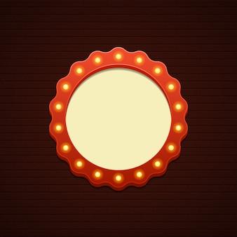 Retro van de de verkoopbioskoop van het showuurteken frame van de gloeilampen en neonlampen