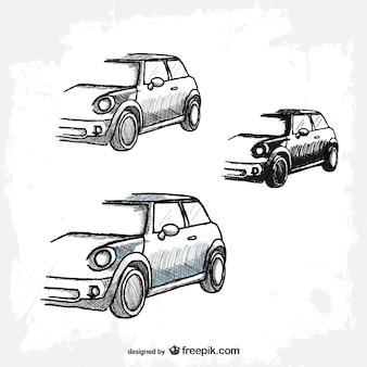 Retro vector auto gratis te downloaden