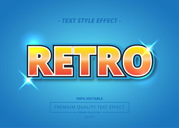 Retro vector tekst stijl effect