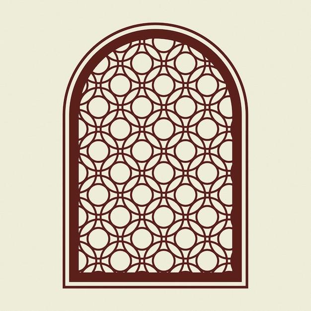 Retro venster logo zakelijke huisstijl illustratie