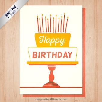 Retro verjaardag uitnodigingskaart