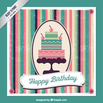 Retro verjaardagskaart