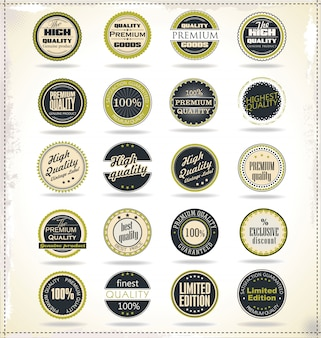 Retro vintage badges en labels