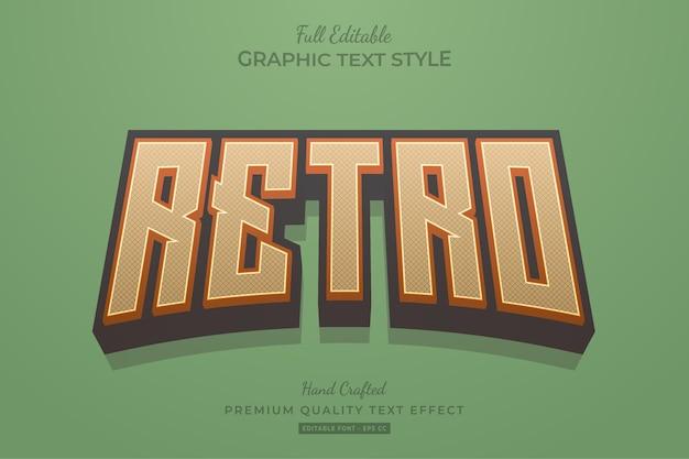 Retro vintage bewerkbare teksteffect tekenstijl