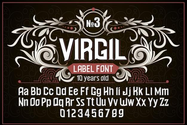 Retro vintage lettertype virgil