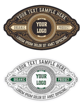 Retro vintage logo's of insignes instellen. ontwerpelementen, uithangborden, logo's, identiteit, labels, badges en objecten.