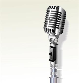 Retro vintage microfoon ontwerp achtergrond