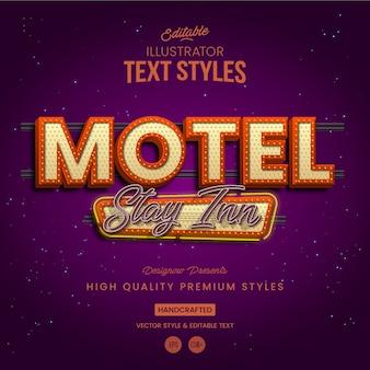 Retro vintage motel-tekststijl
