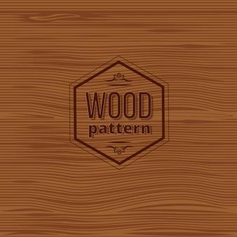 Retro vintage oud houten paneel met label Gratis Vector