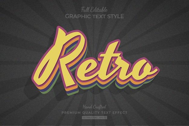 Retro vintage oude bewerkbare premium teksteffect lettertypestijl