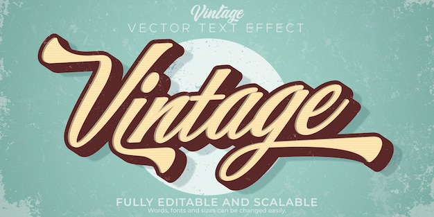 Retro vintage teksteffect bewerkbare stijl