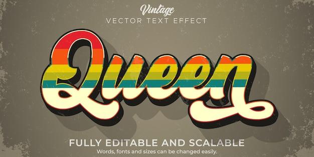 Retro, vintage teksteffect, bewerkbare tekststijl uit de jaren 70 en 80