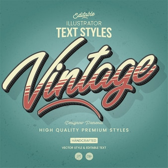 Retro & vintage-tekststijl